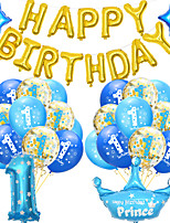 cheap -Party Balloons 35 pcs Happy Birthday Party Supplies Latex Balloons Banner Boys and Girls Party Birthday Decoration 12 Inch for Party Favors Supplies or Home Decoration