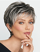 cheap -Synthetic Wig Curly Pixie Cut Asymmetrical Wig Short Black Synthetic Hair Women's Fashionable Design Classic Ombre Hair Black