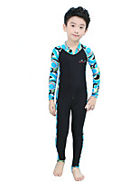 cheap -Bluedive Boys' Girls' Rash Guard Dive Skin Suit Diving Suit Breathable Quick Dry Stretchy Long Sleeve Front Zip - Swimming Surfing Water Sports Painting Spring &  Fall Summer / Kid's / UPF50+