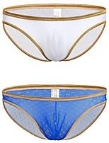 cheap -Men's 2 Piece Lace Briefs Underwear - Normal Low Waist Multi color M L XL