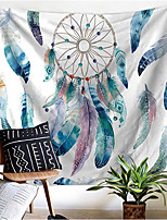 cheap -Wall Tapestry Art Decor Blanket Curtain Picnic Tablecloth Hanging Home Bedroom Living Room Dorm Decoration Polyester White Starry Dream Catcher Colorful Beauty View