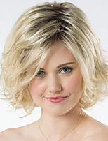 cheap -Synthetic Wig Curly Asymmetrical Wig Short Blonde Synthetic Hair 6 inch Women's Fashionable Design Exquisite Fluffy Blonde
