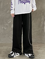 cheap -Women's Sporty Outdoor Loose Daily Wide Leg Pants Pants Solid Colored Full Length High Waist Black