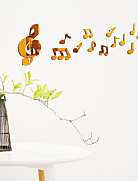 cheap -Musical Notes Wall Stickers Mirror Wall Stickers Decorative Wall Stickers, Acrylic Home Decoration Wall Decal Wall Decoration 1pc
