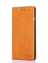 cheap -Case For OPPO OPPO Reno Ace / Oppo Realme 6 / Realme 6S / Oppo Reno 3 5G / Find X2 Lite Card Holder / Flip Full Body Cases Solid Colored PU Leather / TPU