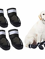 cheap -waterproof dog boots, dog hiking shoes protect the paws from injury, suit for labrador husky and other medium large dogs, grid anti-skid design 4 pcs