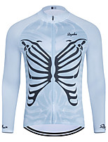 cheap -WECYCLE Men's Women's Long Sleeve Cycling Jersey Winter Blue Skull Bike Top Mountain Bike MTB Road Bike Cycling Breathable Sports Clothing Apparel / Stretchy / Athletic
