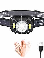 cheap -headlamp flashlight,usb rechargeable super bright &lightweight waterproof head lamp,perfect for camping,cycling, climbing, hiking, fishing, night reading, running
