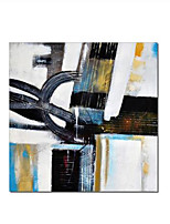 cheap -Oil Painting Hand Painted - Abstract Comtemporary Modern Rolled Canvas (No Frame)