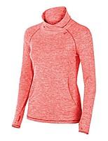 cheap -women's asx lux mock neck long sleeve sweatshirt, fiery flame, x-small