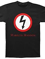 cheap -marilyn manson men's classic bolt slim-fit t-shirt (small) black