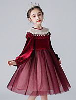 cheap -Princess Cosplay Costume Masquerade Girls' Movie Cosplay A-Line Slip Halloween Red Dress Halloween Children's Day Masquerade Polyester Organza