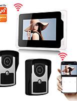 cheap -WIFI / Wired Tuya Smartlife 1080P HD Camrea 7inch Monitor Video door bell Visual Intercom Rainproof Door Camera PIR Motion Detector