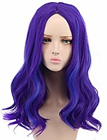 cheap -halloweencostumes Purple Wig yuehong long curly purple wig party wigs for women cosplay costume halloween hair wigs (adults)