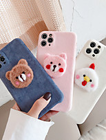 cheap -Case For iPhone 11 Shockproof Back Cover Animal / Cartoon / 3D Cartoon TPU For Case 7/8/7P/8P/X/XS/XS MAX/SE 2020/11 PRO/11PRO MAX