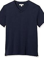 cheap -amazon brand - men's heavyweight oversized short-sleeve v-neck t-shirt, navy, x-large