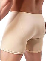 cheap -men's long leg boxer briefs seamless front breathable trunks stretch men undepanties (medium, nude)
