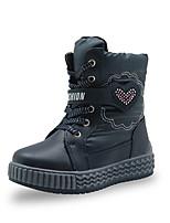 cheap -Girls' Boots Snow Boots PU Snow Boots Little Kids(4-7ys) Wine Blue Pink Winter / Mid-Calf Boots / Rubber