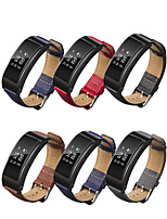 cheap -Watch Band for Huawei Band B6 Huawei Classic Buckle / Business Band Genuine Leather Wrist Strap