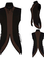 cheap -Knight Ritter Medieval Renaissance Masquerade Vest Men's Costume Black Vintage Cosplay Party Halloween