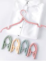 cheap -8PC Mini Foldable Portable Clothes Plastic Hangers Multifunction Travel Folding Hanger Travel Artifact Suit Laundry Drying Rack