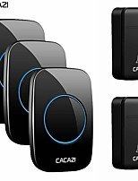cheap -CACAZI No Battery Required Home Wireless Doorbell Self-Powered 200M Remote Waterproof Calling Bell 2 Button 3 Receiver