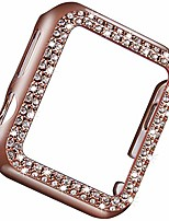 cheap -vikoros bling protective bumper case compatible with apple watch 38mm, dressy diamond plate frame cover screen protector compatible with iwatch series 3 2 1