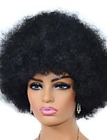 cheap -Synthetic Wig black Afro Short Bob Wig Short Black Synthetic Hair Women's For Black Women Black