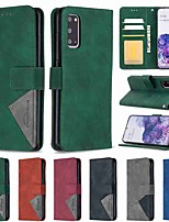 cheap -Case For Samsung Galaxy A42 5G Galax S20 Ultra Galaxy S20 Wallet Card Holder with Stand Full Body Cases Hijab Prismatic PU Leather TPU for Samsung Galax A41 Note 20 Ultra A21S A51 A71 A31