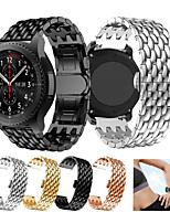 cheap -Stainless Steel Watch Band Strap For Galaxy Watch 3 45mm / Watch 46mm / Gear S3 Metal Replacement Watchband Dragon Scale Bracelet Wristband 22mm