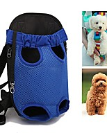 cheap -dog front carrier bag adjustable, legs out, pet cat dog carrier backpack for walking, traveling, hiking, camping, bike and motorcycle (small, blue)