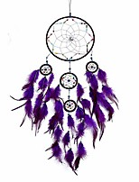 "cheap -dream catchers,colors feather dream catchers for bedroom wall decoration for kids 8"" w 29.5"" l (purple)"