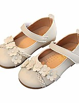 cheap -little girls braided flower bundles mary jane ballet flats princess dress shoes beige size 28