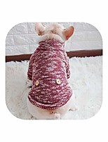 cheap -little-star dog clothes spring/fall pet dog sweaters small medium dog warm knitted puppy clothes french bulldog yorkie,red,s