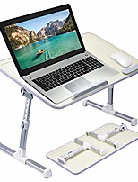 cheap -[large size] neetto tb101l adjustable laptop bed table, portable standing desk, foldable sofa breakfast tray, notebook stand reading holder for couch floor kids - honeydew