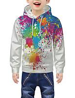 cheap -Kids Boys' Active 3D Tie Dye Graphic Print Long Sleeve Hoodie & Sweatshirt Rainbow