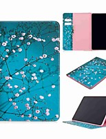 cheap -Case For Apple iPad Pro (2020) 11'' iPad 7 (2019) 10.2'' iPad Air 3 (2019) 10.5'' Wallet Card Holder with Stand Full Body Cases Plum Blossom PU Leather TPU for iPad 5 (2017) 9.7'' iPad 6 (2018) 9.7