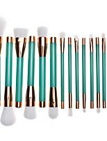 cheap -15 Pcs Makeup Brush Set Purple Green Rose Gold Makeup Brushes Wooden Makeup Beauty Tool Set