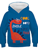 cheap -Kids Toddler Boys' Active Streetwear Graphic Letter Print Long Sleeve Hoodie & Sweatshirt Blue