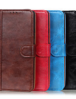 cheap -Case For Huawei Honor V30 / Honor V30 Pro Wallet / Shockproof / with Stand Full Body Cases Solid Colored PU Leather