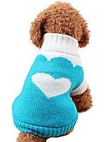 cheap -pet sweater, pets dog cat turtle neck sweater top puppy strawberry love heart pattern sweater shirt (xl, sky blue)