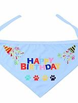 cheap -dog birthday bandana pet scarf for pet birthday special day (blue)