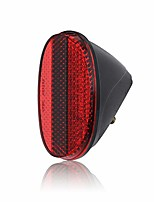 cheap -red oval rear bicycle mudguard fender cycling safety warning reflectors (red)