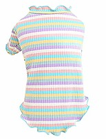 cheap -fundiscoumt small dog sweater, cute rainbow sweater pet warm clothes puppy cat dog sweatshirt classic cable knit clothes with coloful stripes for cold weather