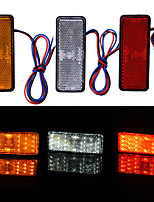 cheap -2pcs Motorcycle / Car Light Bulbs 2.4 W LED Tail Lights For Motorcycles / universal All years
