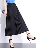 cheap -Women's Street Daily Active Streetwear Skirts Solid Colored Black Blue Blushing Pink