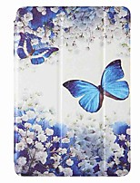cheap -Case For Amazon HD8(2020) Amazon HD8(2017) Amazon Fire7(2017) with Stand Flip Pattern Full Body Cases Blue Butterfly PU Leather TPU for Amazon HD8(2016) Amazon Fire7(2015)