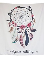 cheap -Wall Tapestry Art Decor Blanket Curtain Picnic Tablecloth Hanging Home Bedroom Living Room Dorm Decoration Polyester Solid White Background Colorful Starry Dream Catcher Beauty View
