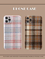 cheap -Case For iPhone 11 Shockproof Back Cover Solid Colored / Lines TPU For Case 7/8/7P/8P/X/XS/XS MAX/SE 2020/11 PRO/11PRO MAX