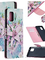 cheap -Case For Samsung Galaxy A51 5G Wallet Card Holder with Stand Full Body Cases Flower PU Leather Galaxy A71 M31S A10E A20E A20S A30 A41 A50S A70 A80 A90